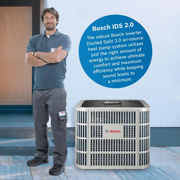 Bosch IDS 2.0 Heat Pump 20.5 SEER installations