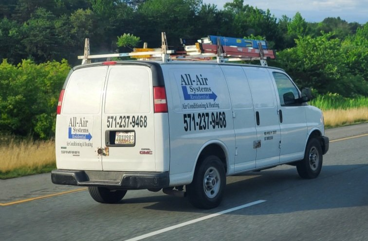 Image of one of our All-Air Systems service vans